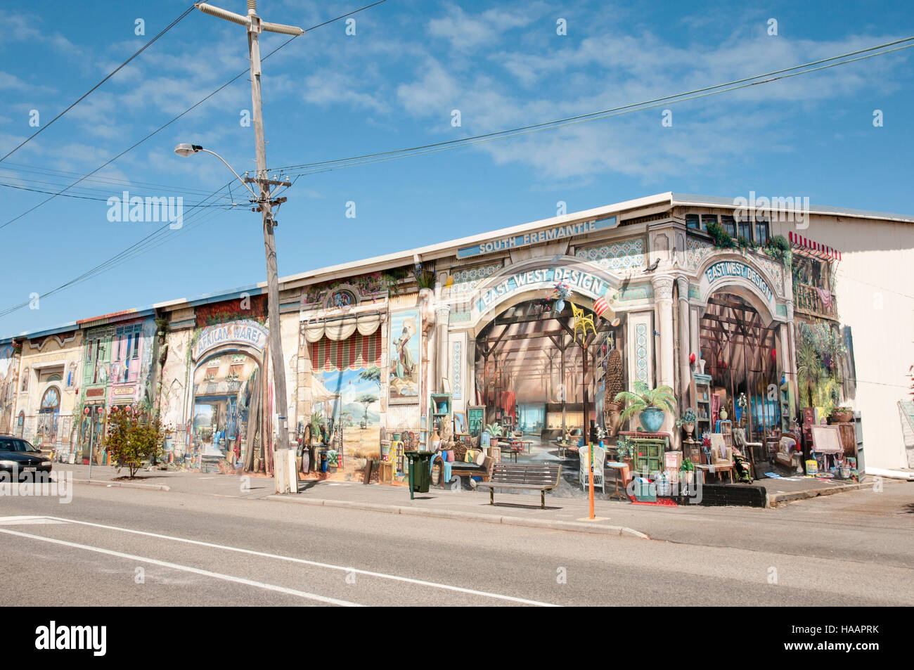 Artistic Graffiti - Fremantle - Australia - Stock Image