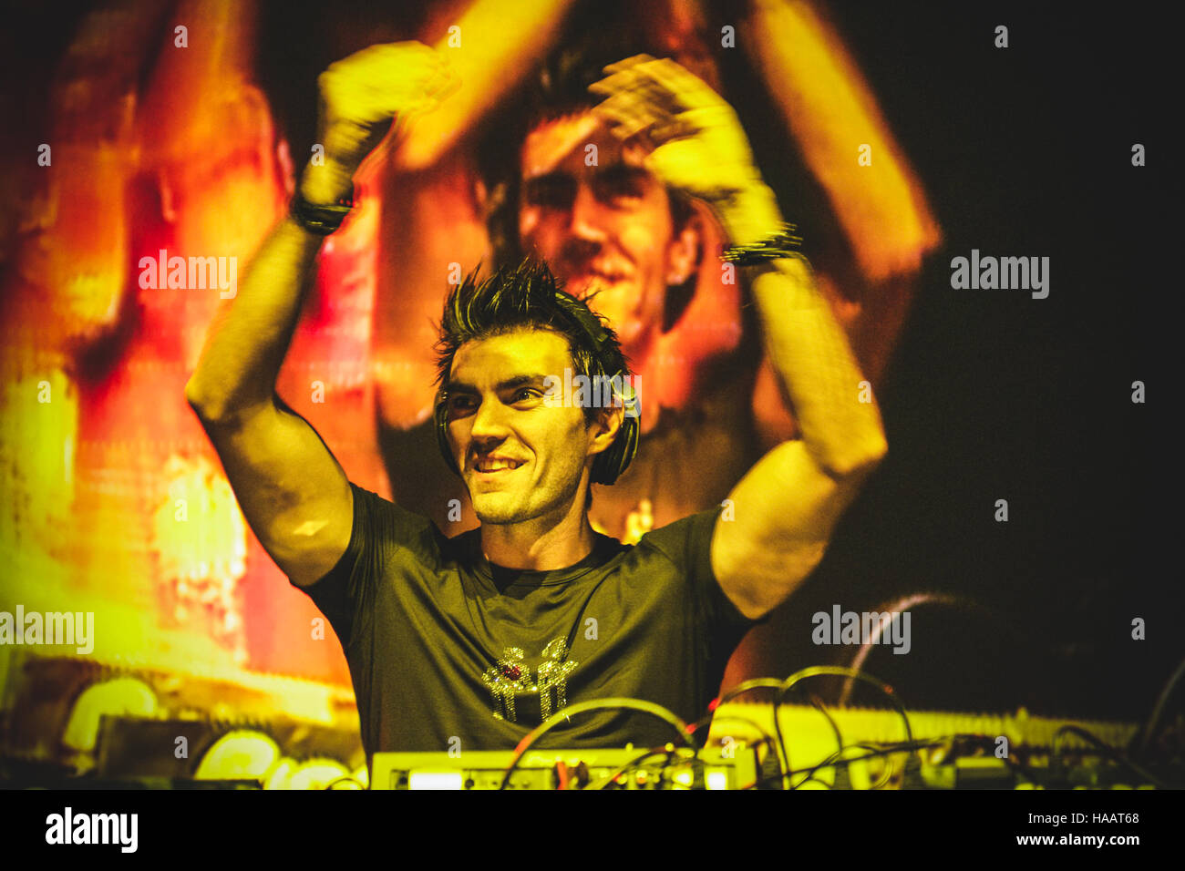 Torino, Italy. 29th June, 2012. Gabry Ponte of Eiffel65 performing live at Gruvillage Festival 2012 © Alessandro Stock Photo