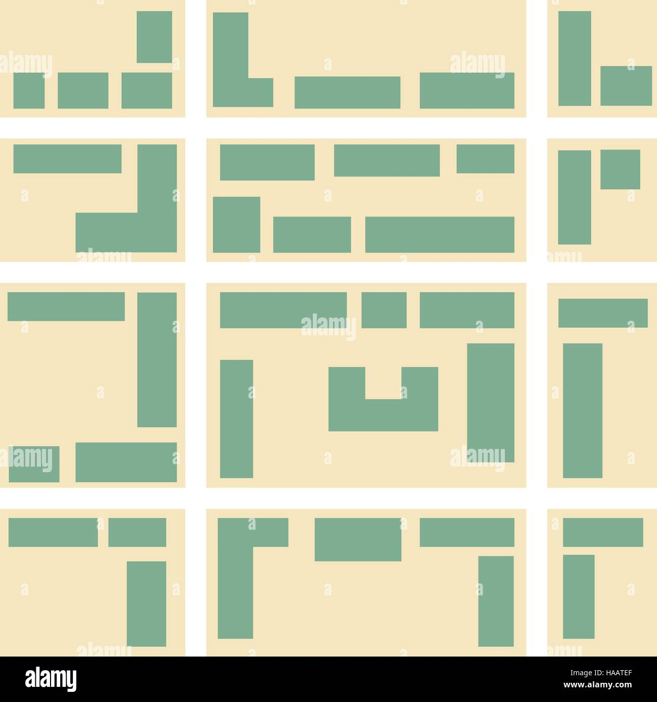 City map pattern. - Stock Vector