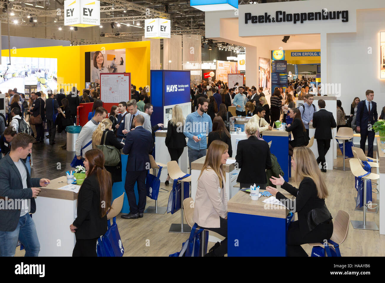 Graduate Congress at the Cologne Fair Stock Photo
