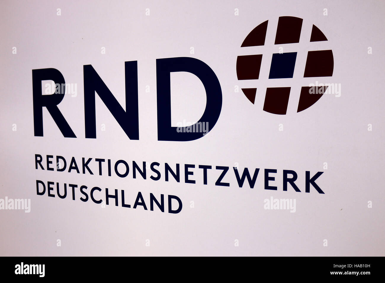 """das Logo der Marke """"RND Redaktionsnetzwerk Deutschland"""", Berlin. Stock Photo"""