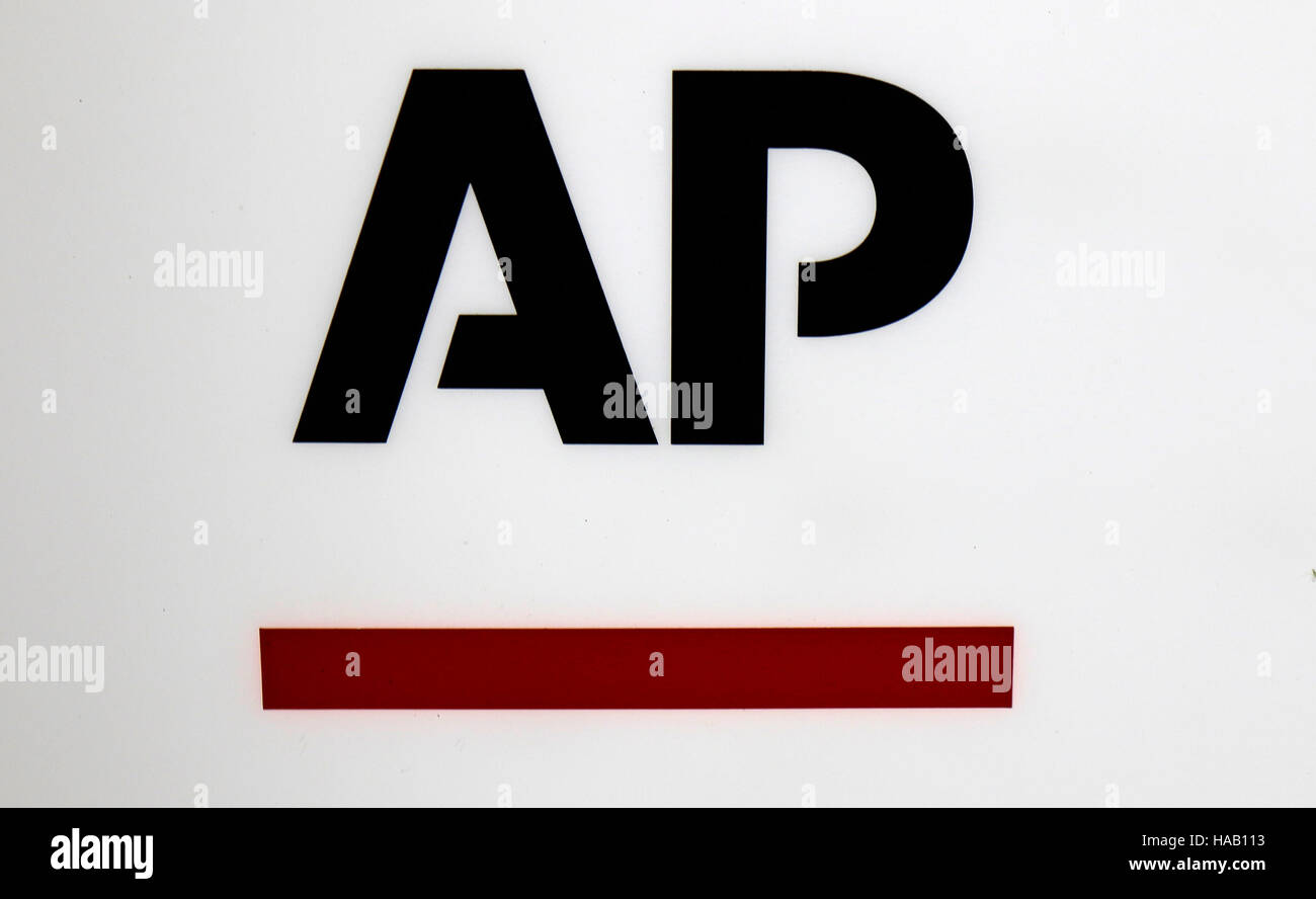 das Logo der Marke 'AP Associated Press', Berlin. - Stock Image