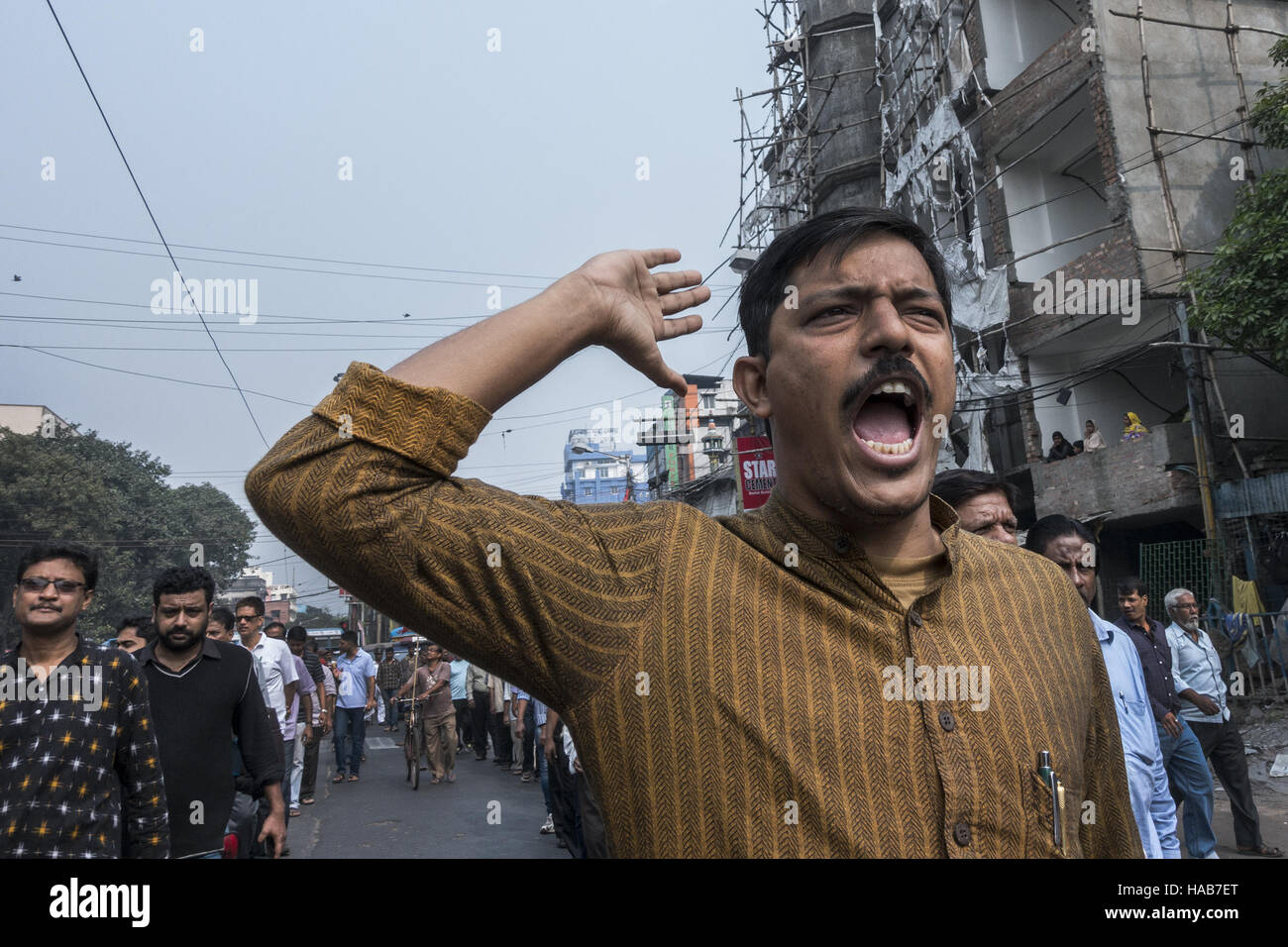 Kolkata, Indian state West Bengal. 28th Nov, 2016. An Indian activist from the Communist Party of India (Marxist) - Stock Image