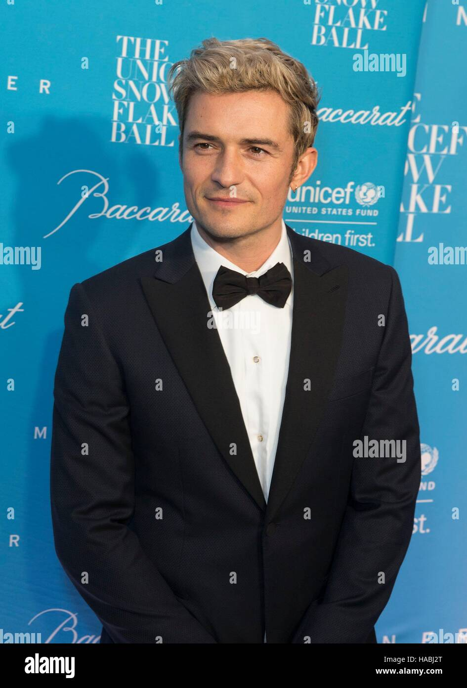 New York, NY, USA. 29th Nov, 2016. Orlando Bloom at arrivals for 12th Annual UNICEF Snowflake Ball, Cipriani Wall - Stock Image