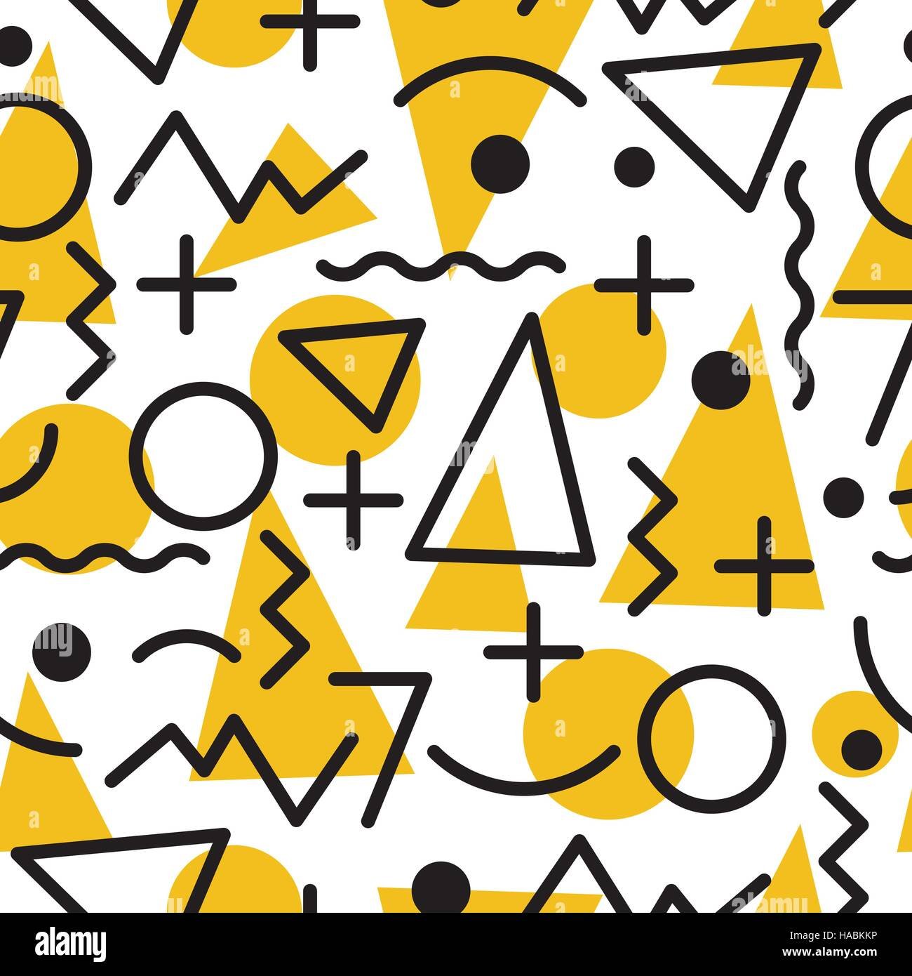 geometric minimal seamless abstract pattern - Stock Image