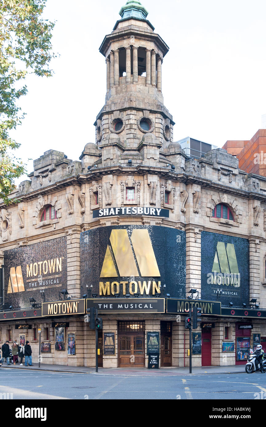 shaftesbury theatre london musical motown - Stock Image