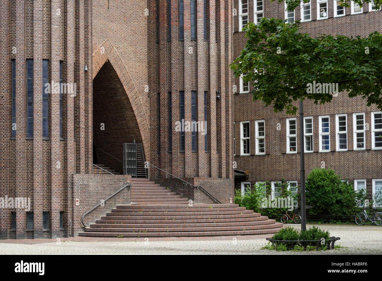 Berlin. Germany. Kirche Am Hohenzollernplatz. Built 1930-1933 to a design by Fritz Höger. - Stock Image