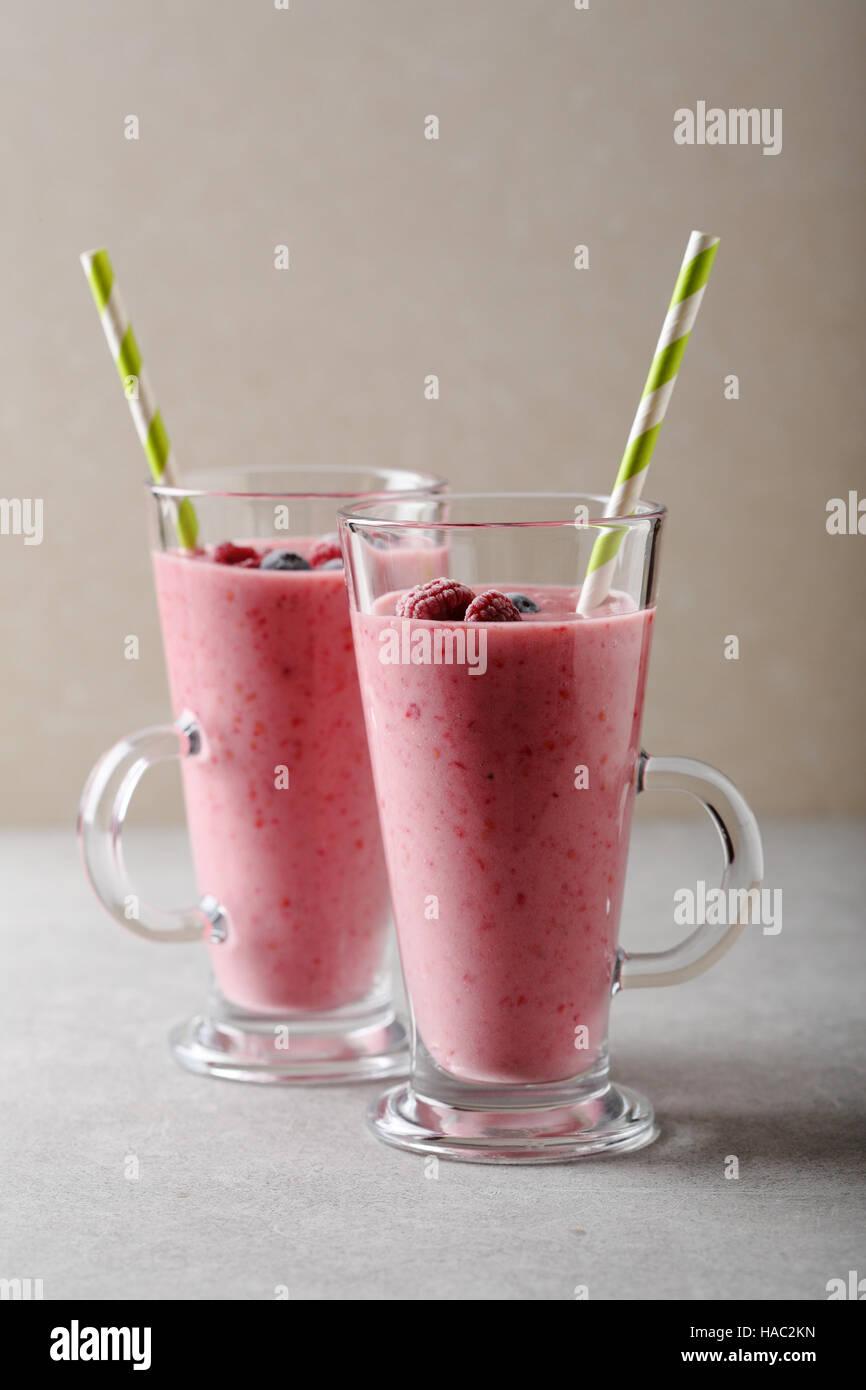 Blended fruits cocktails, fresh drink Stock Photo