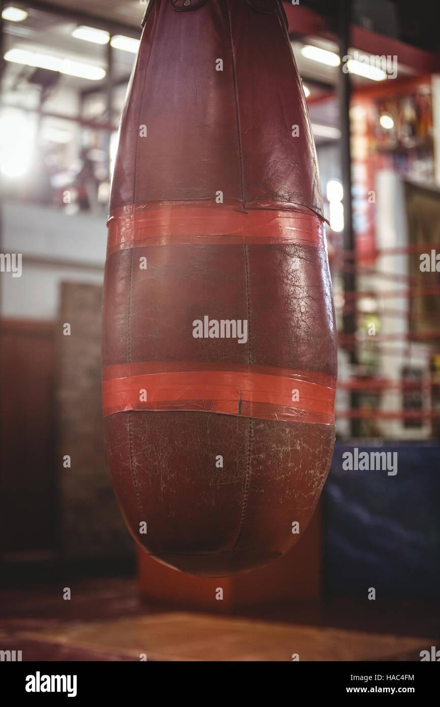 Close-up of punching bag - Stock Image