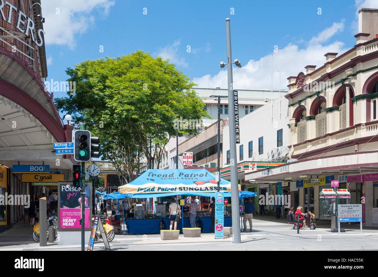 Brunswick Street Mall, Fortitude Valley, Brisbane, Queensland, Australia Stock Photo