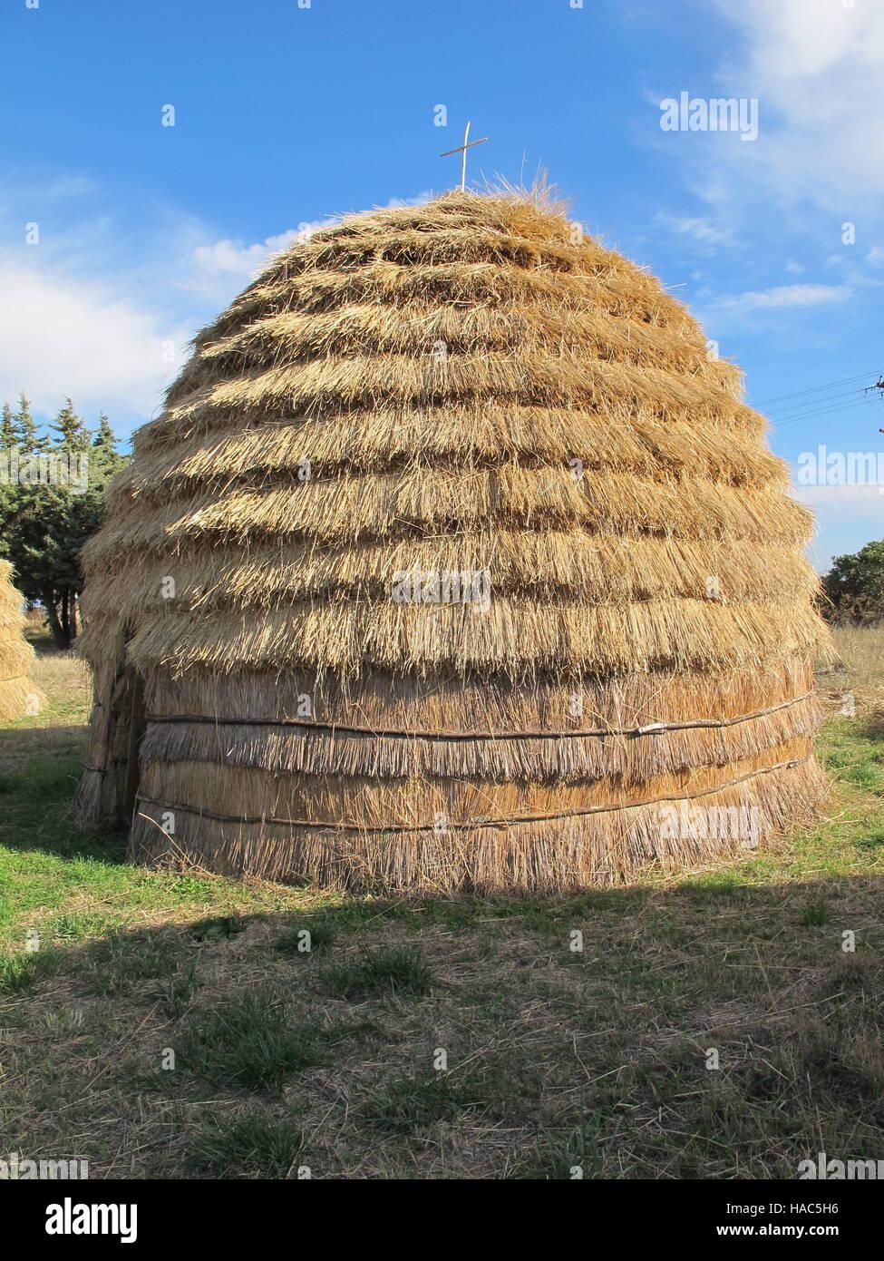Greece Macedonia traditional shepherd's hut - Stock Image