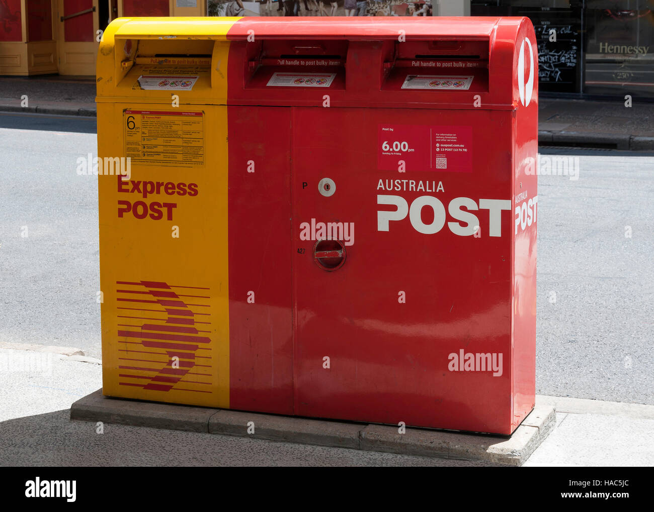Post pillar box, Brunswick Street, Fortitude Valley, Brisbane, Queensland, Australia - Stock Image