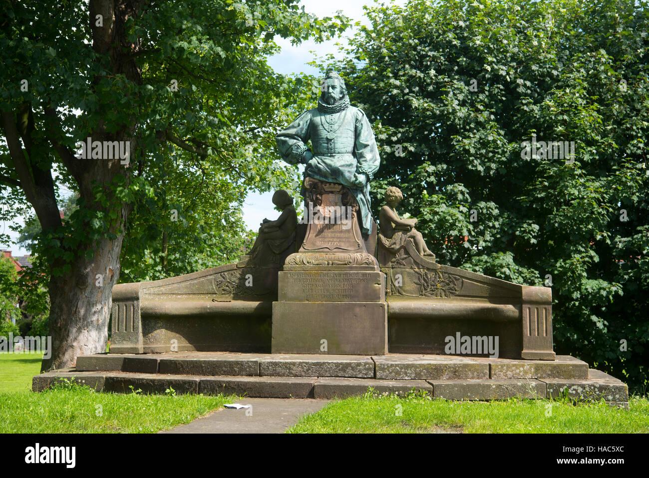Deutschland, Nordrhein-Westfalen, Steinfurt, Arnold II. (IV.) von Bentheim-Tecklenburg-Steinfurt - Stock Image