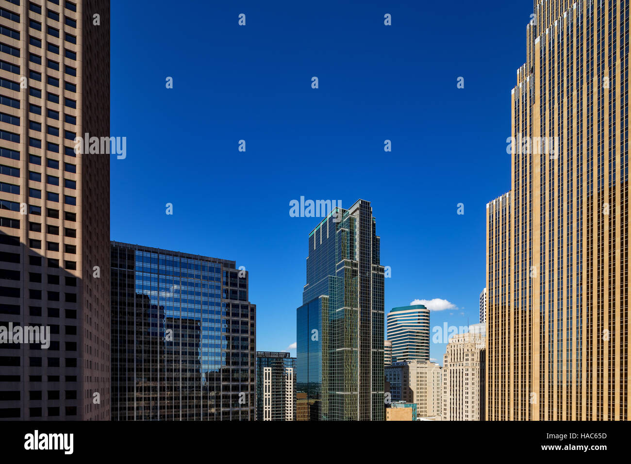 An abstract view of the city architecture of Minneapolis, MN, USA - Stock Image