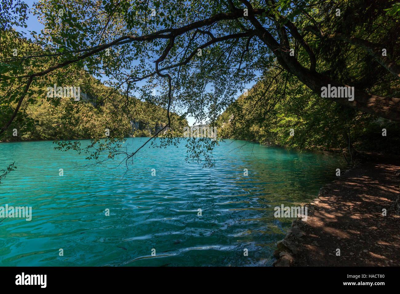 Plitvice Lakes National Park in Croatia - Stock Image