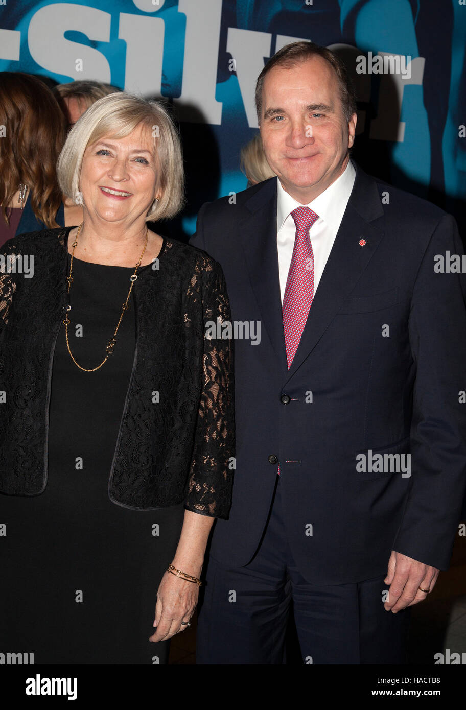 STEFAN LÖFVÈN The Swedish Prime minister with wife Ulla at the Swedish Annual football gala - Stock Image
