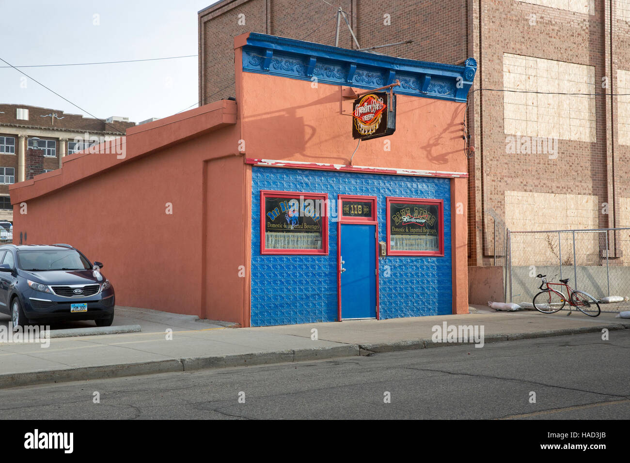 Der Blau Reiter (The Blue Rider) Bar in downtown Minot, North Dakota - Stock Image