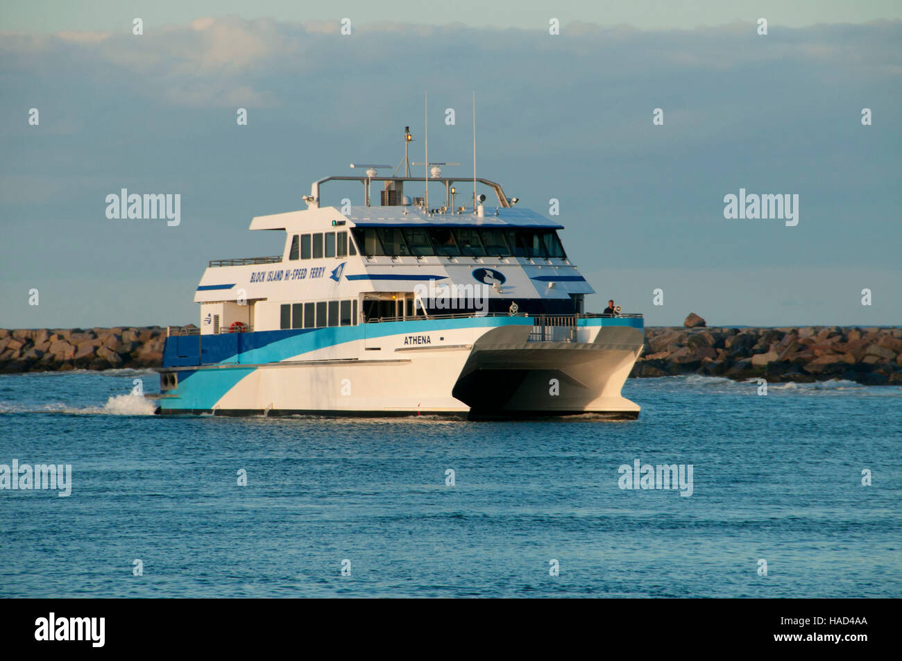 Ferry, New Shoreham, Block Island, Rhode Island - Stock Image