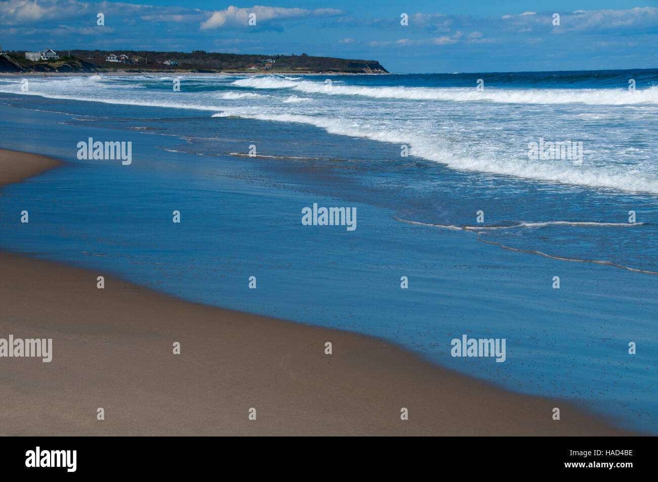 Crescent Beach, New Shoreham, Block Island, Rhode Island - Stock Image