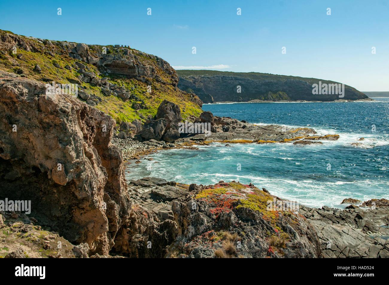 View from Cape Couedic, Kangaroo Island, South Australia, Australia Stock Photo