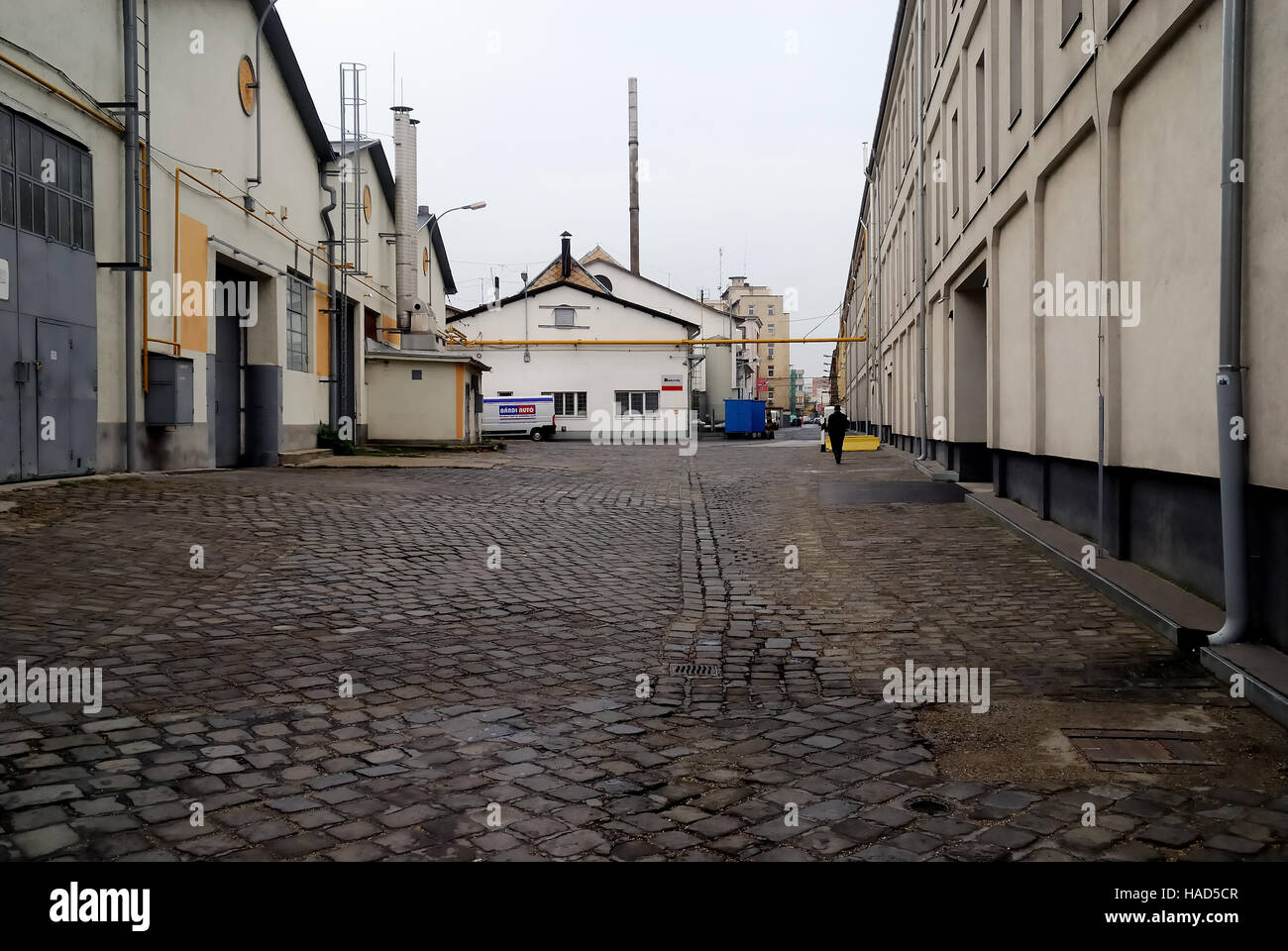 Budapest, Hungary. industrial sheds in Orczy utca (English : Orczy street). - Stock Image