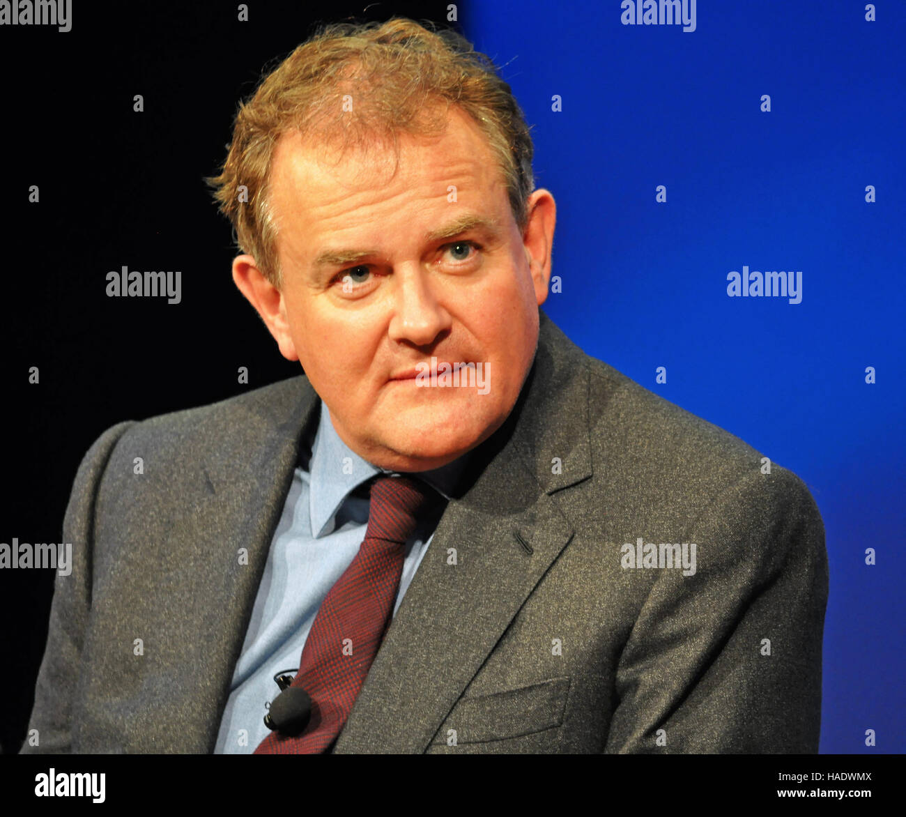 NY, NY. December 8 2015.  Hugh Bonneville (Lord Grantham) at the 'Downtown Abbey' PBS panel. © Veronica - Stock Image