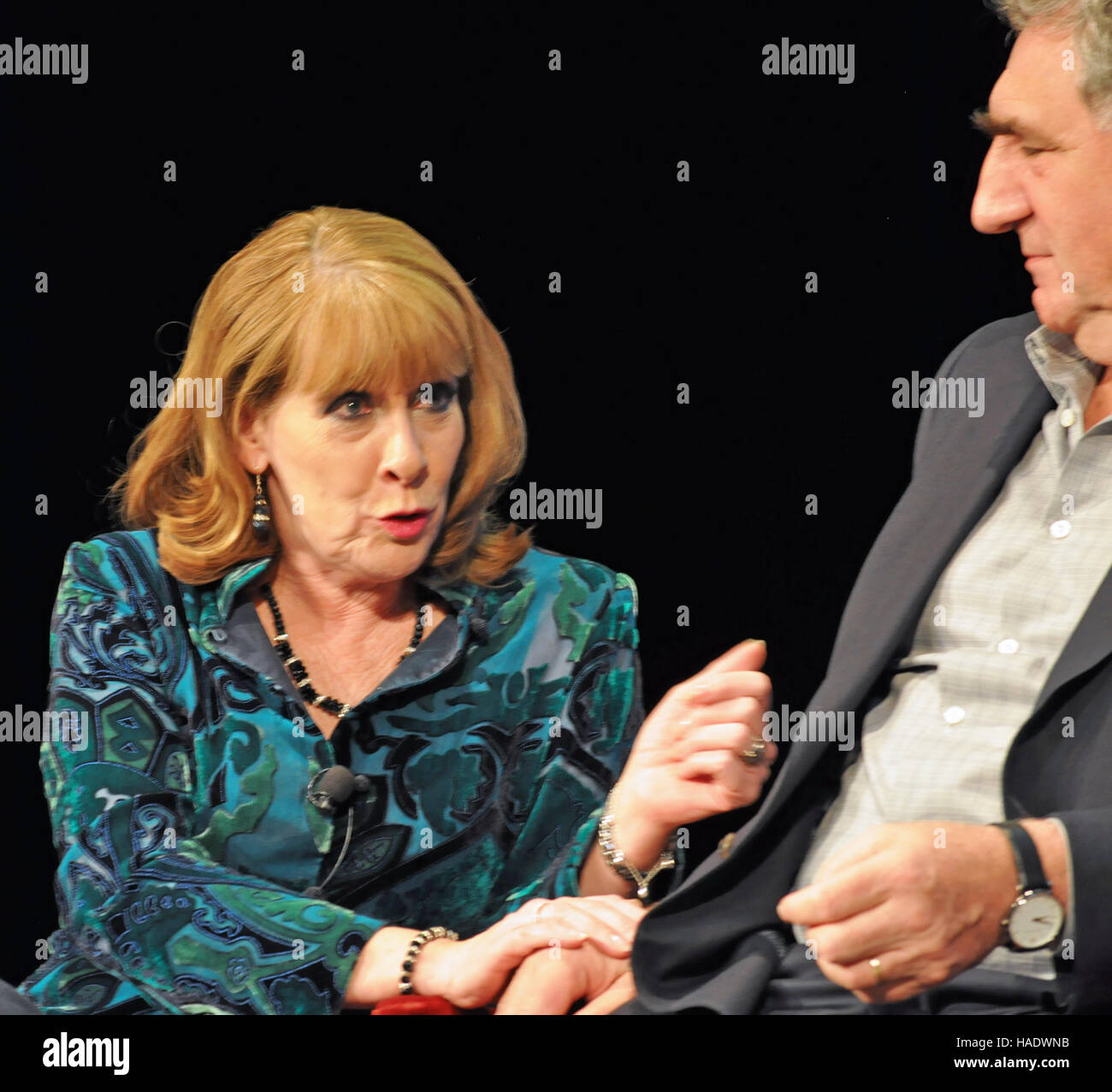 NY, NY. December 8 2015.  Phyllis Logan and Jim Carter at the 'Downtown Abbey' PBS panel. © Veronica - Stock Image