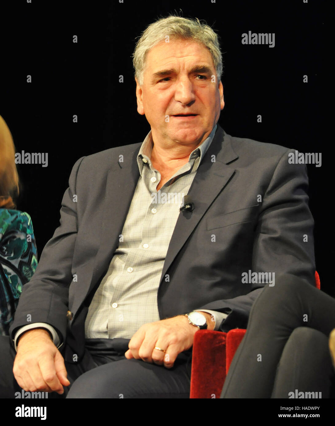 NY, NY. December 8 2015.  Jim Carter (Mr. Carson) at the 'Downtown Abbey' PBS panel. © Veronica Bruno/Alamy - Stock Image