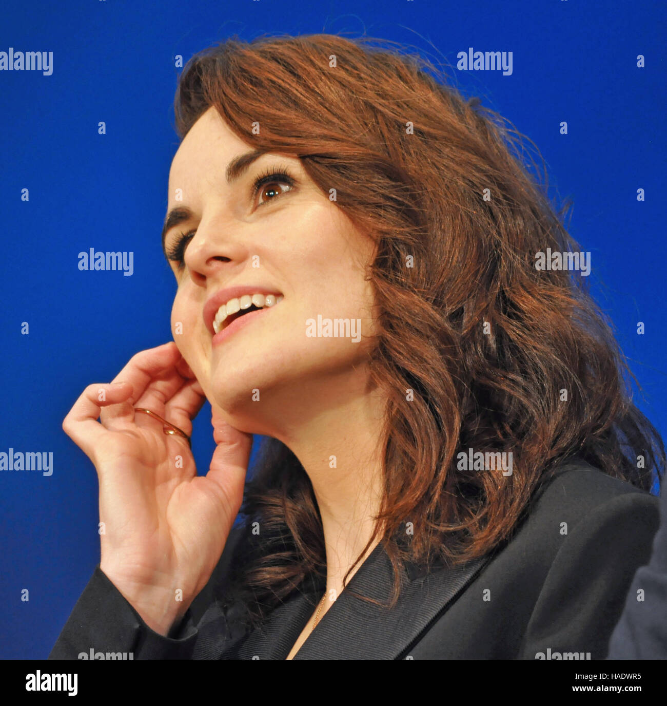 NY, NY. December 8 2015.  Michelle Dockery (Lady Mary) at the 'Downtown Abbey' PBS panel. © Veronica - Stock Image
