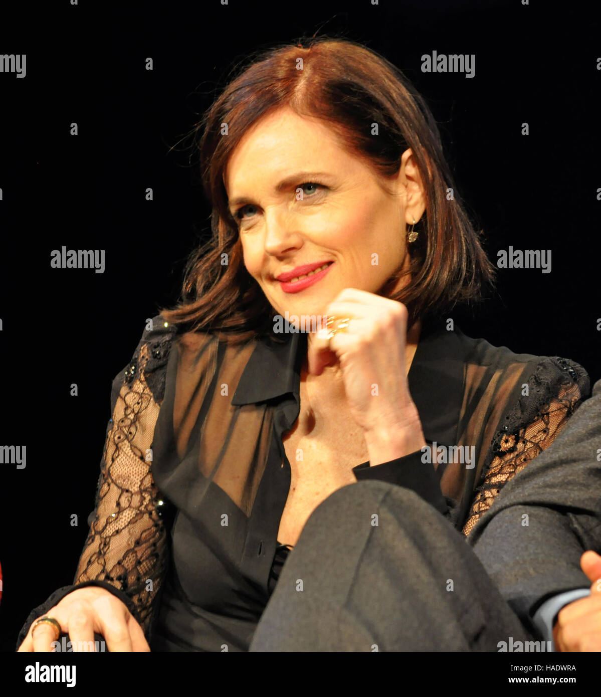 NY, NY. December 8 2015. Elizabeth McGovern (Lady Grantham) at the 'Downtown Abbey' PBS panel. © Veronica - Stock Image
