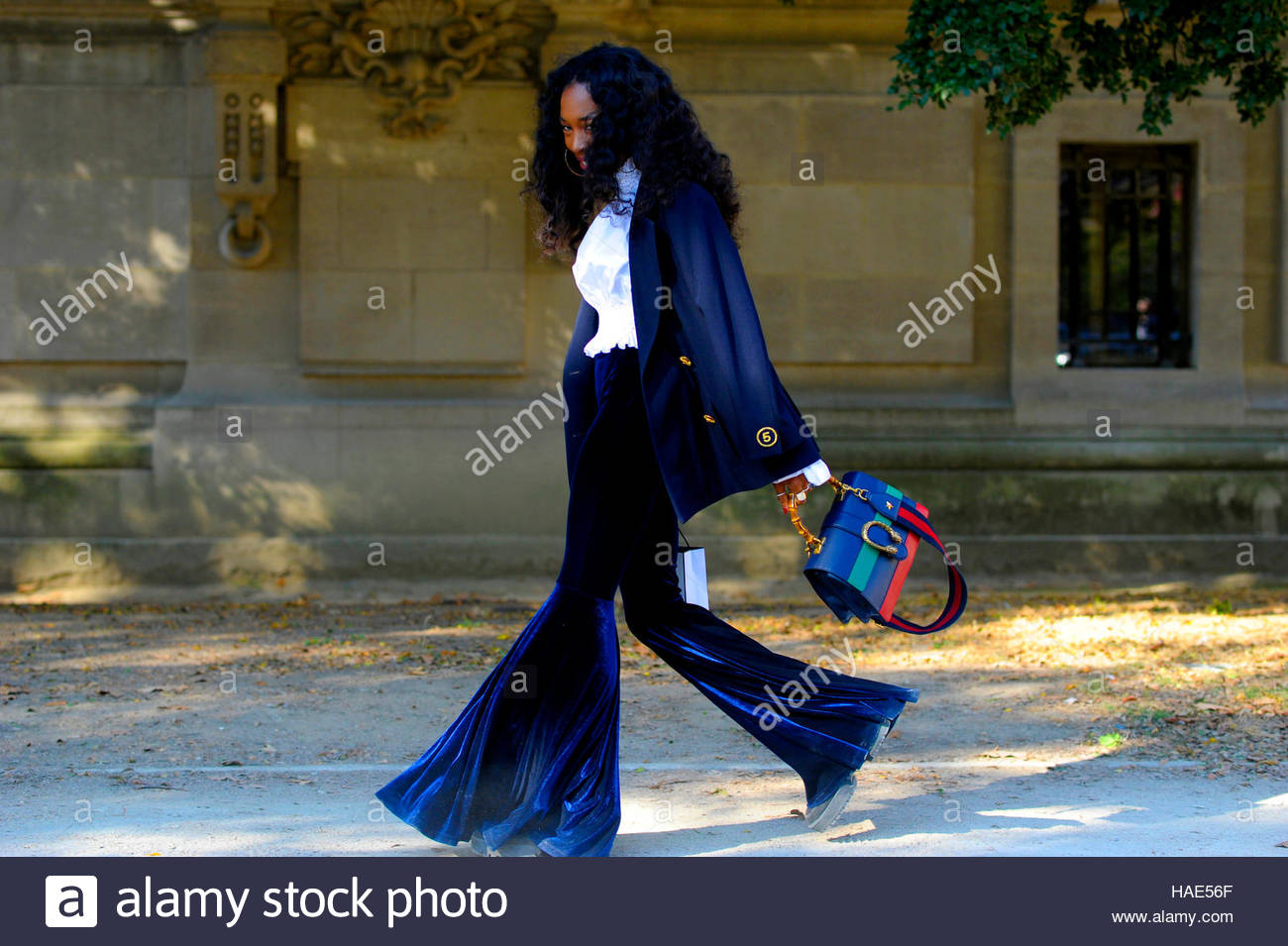 Zerina Akers personal Stylist to Beyoncé Knowles Fashion  After Chanel Grand Palais, Ave Winston Churchill. - Stock Image