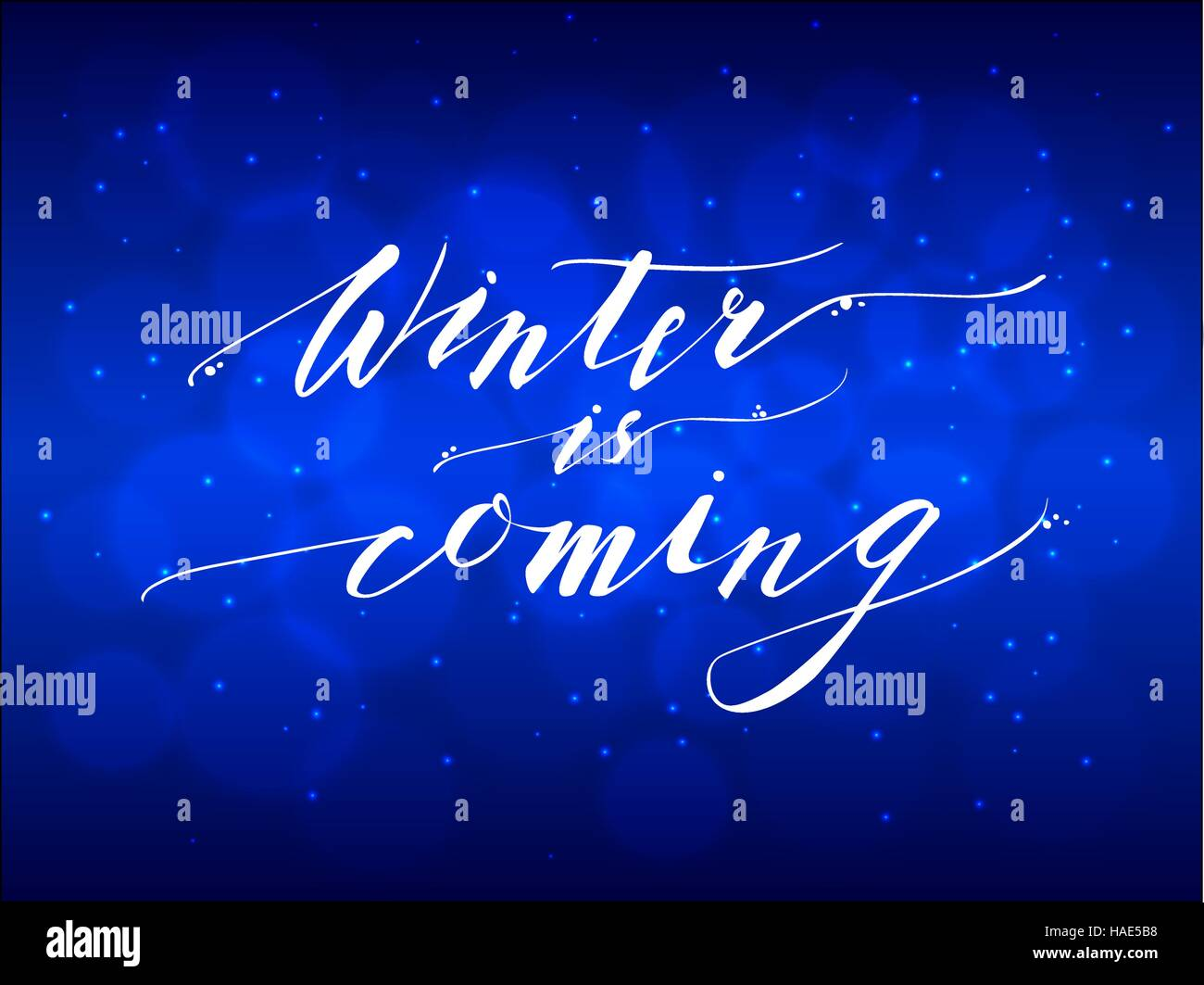 Winter is Coming Hand Lettering Inscription - Stock Image