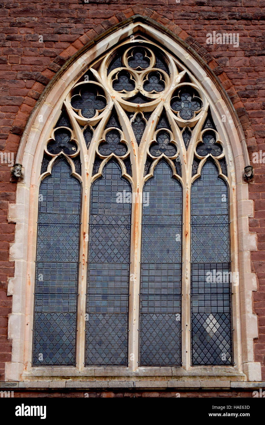 A Beautiful Design Of The Window Of The Old Church From Birmingham Stock Photo Alamy
