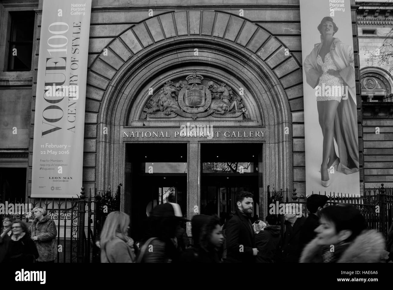 National Portrait Gallery Feb 2016 - Stock Image