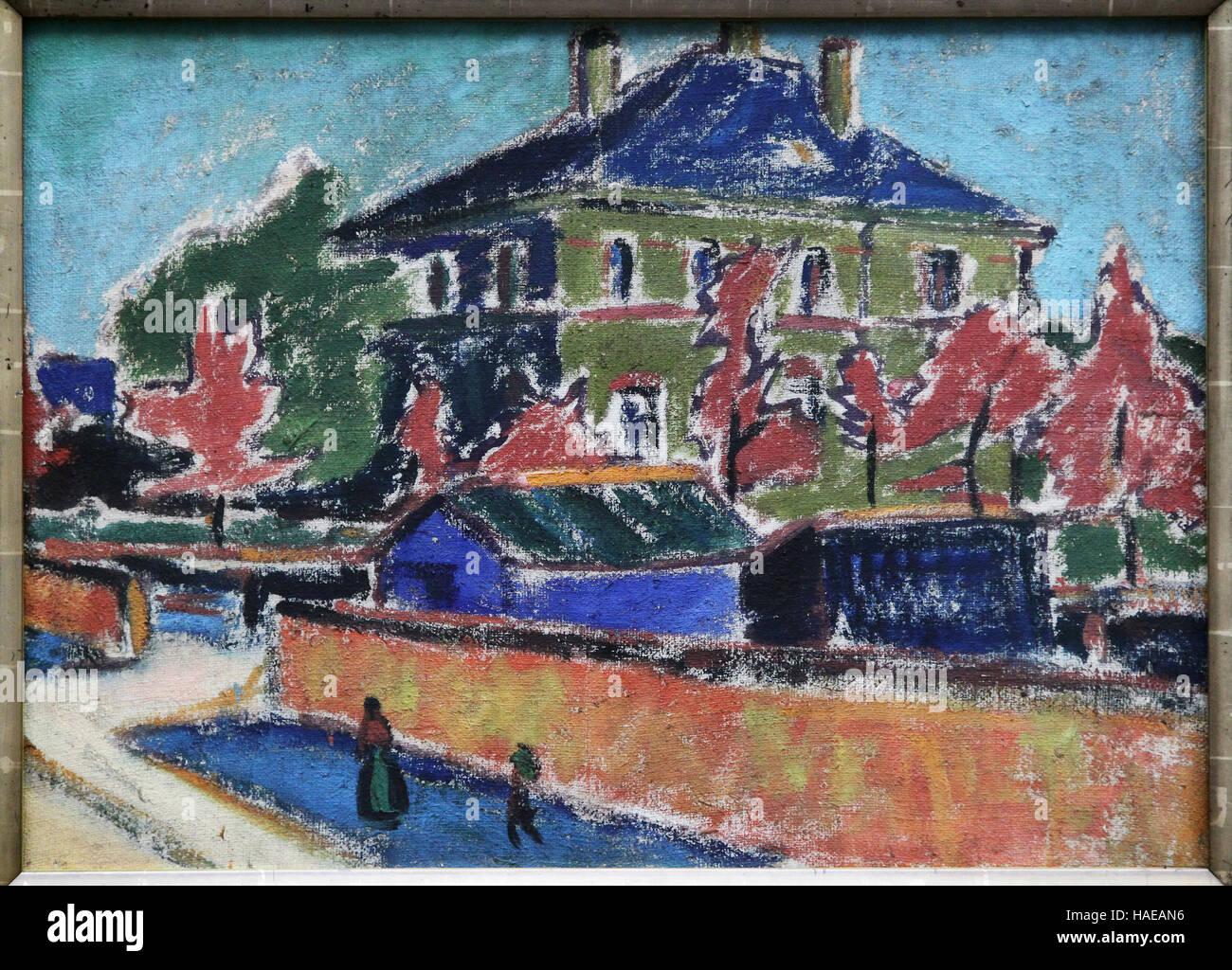 Ernst Ludwig Kirchner 1880-1938 Villa in Dresden 1910 - Stock Image