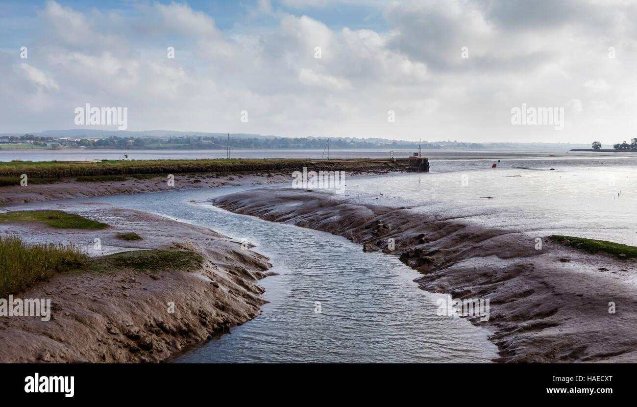 River Exe Estuary channel near Topsham, Devon, UK - Stock Image