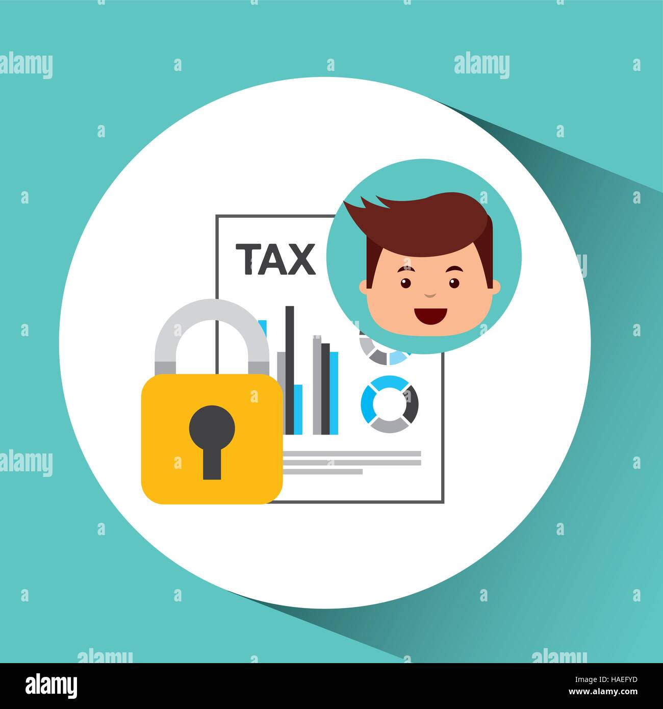 business man secure money tax megaphone vector illustration eps 10 - Stock Vector