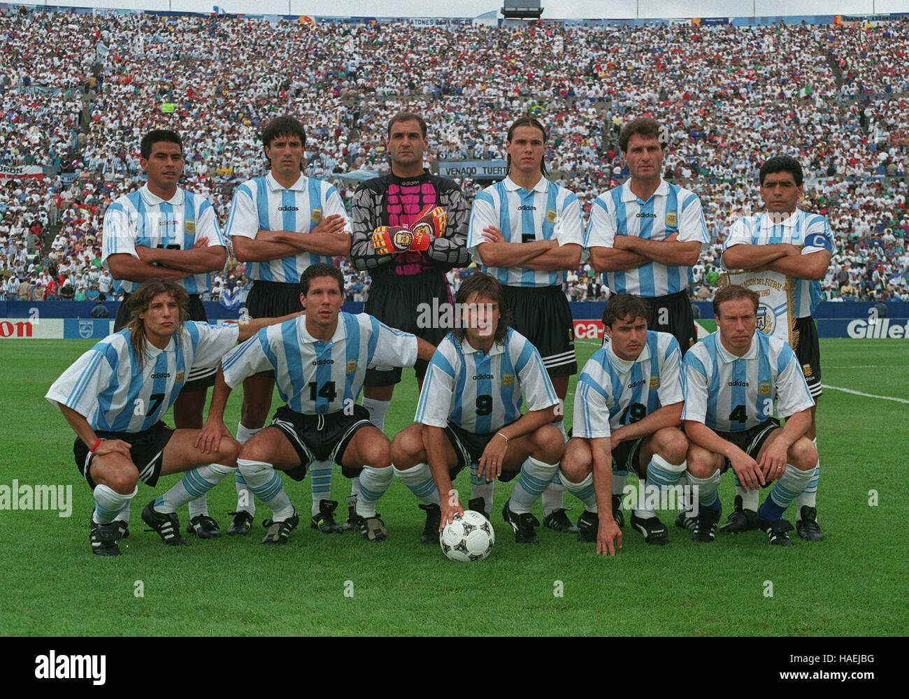 fb54ef854b6833 ARGENTINIAN FOOTBALL TEAM ARGENTINA WORLD CUP FINALS 20 July 1994 ...