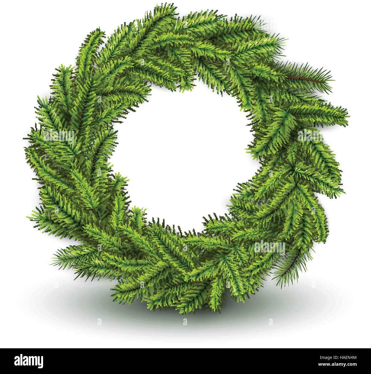Christmas Wreath Vector.White Card With Christmas Wreath Vector 3d Christmas