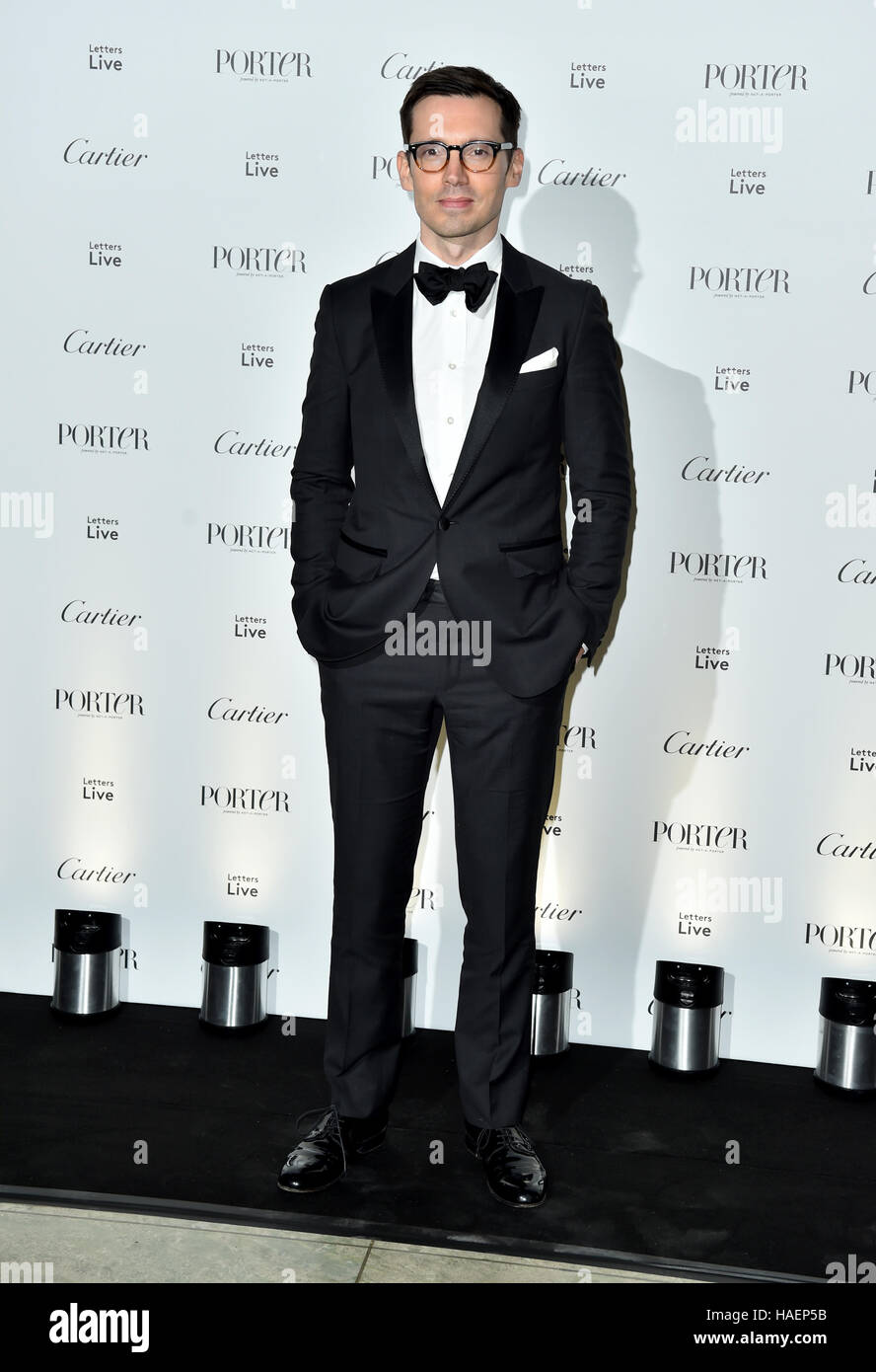 Erdem Moralioglu attending the Letters Live Black Tie Gala Dinner, at the V&A, London. - Stock Image
