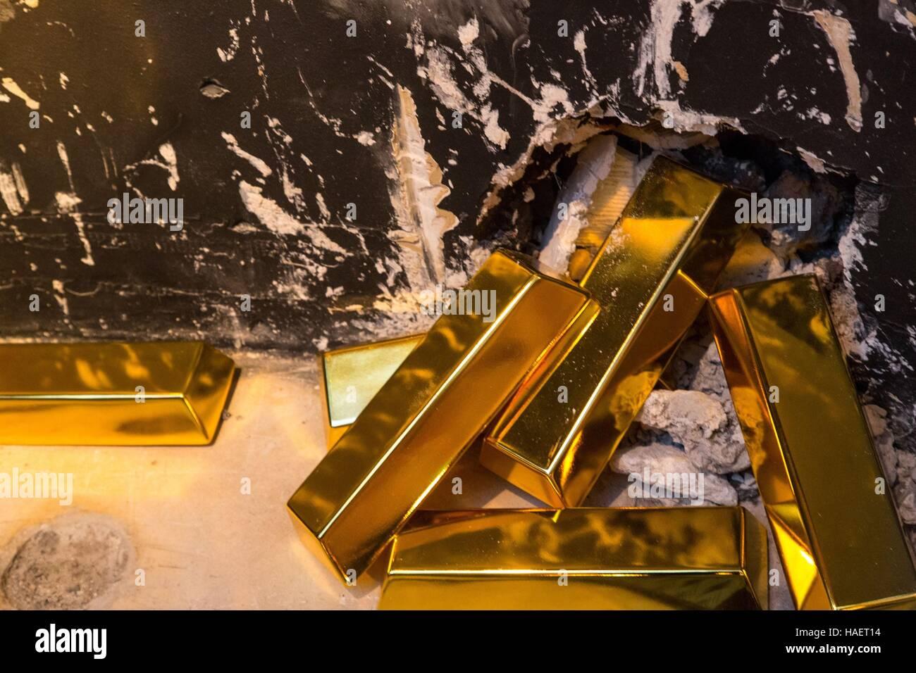 GOLD BULLION - Stock Image