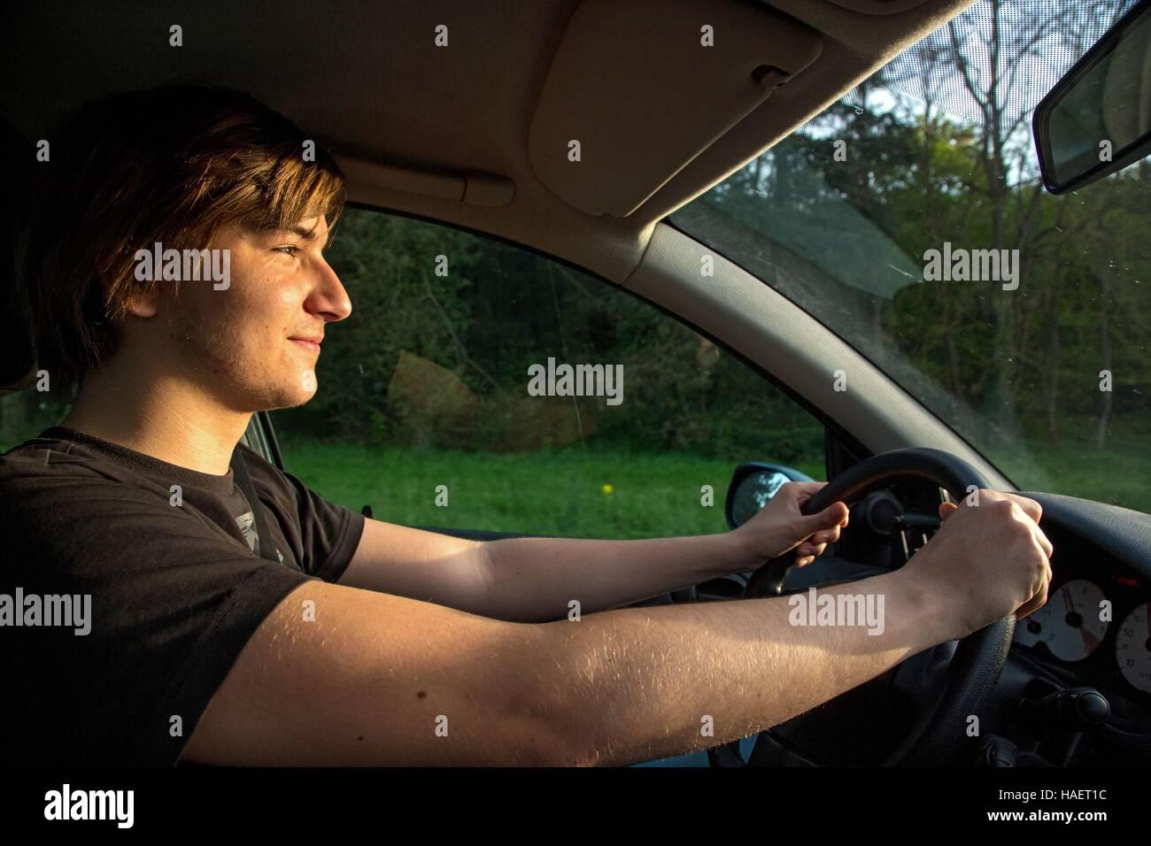 ACCOMPANIED DRIVING - Stock Image