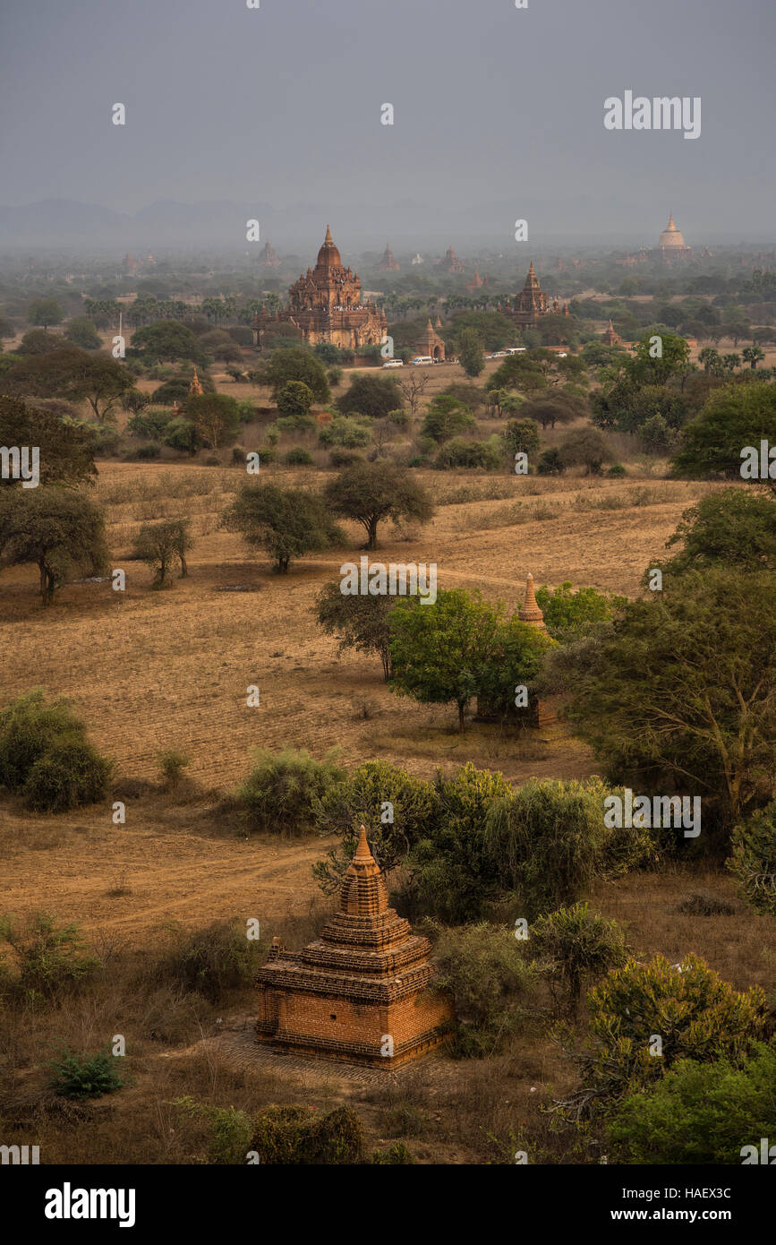 Temples at the Bagan Historical site, Myanmar. Stock Photo