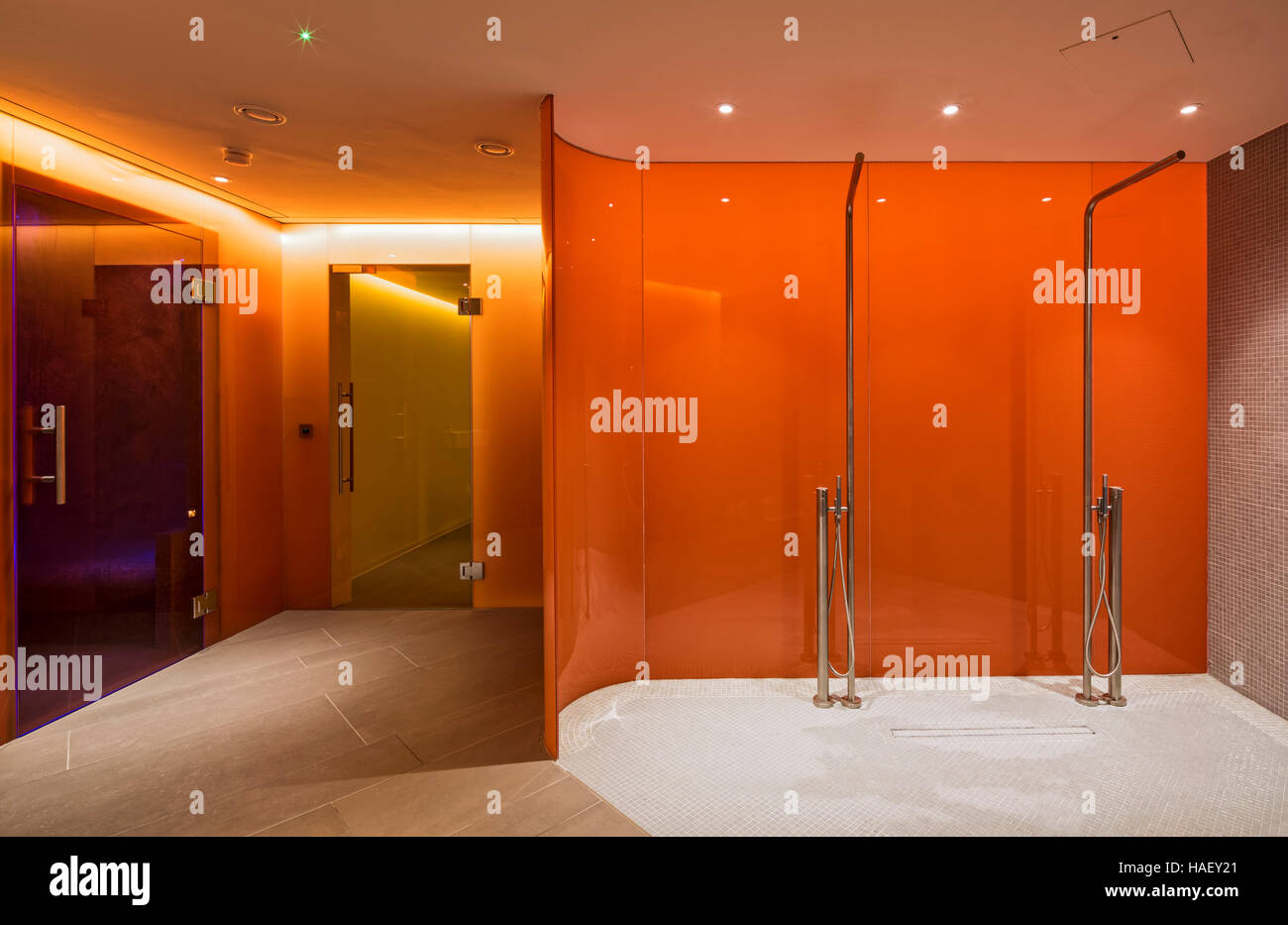 Swimming pool showers. Canaletto Apartments, London, United ...