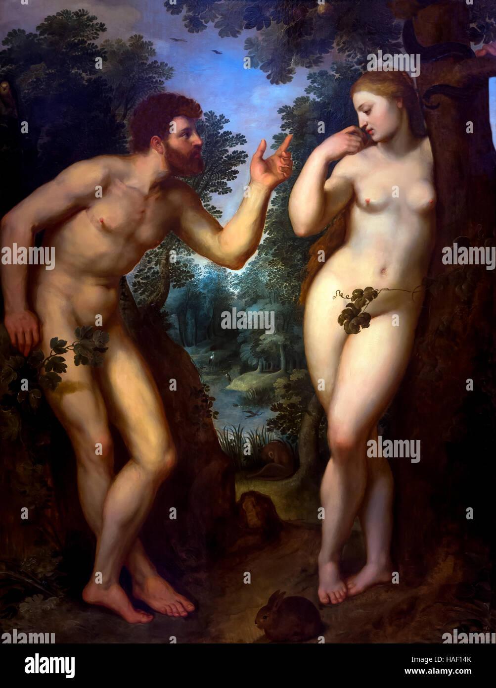 Adam and Eve. by Peter Paul Rubens, circa 1599, Rubenshuis, Antwerp, Belgium, Europe - Stock Image