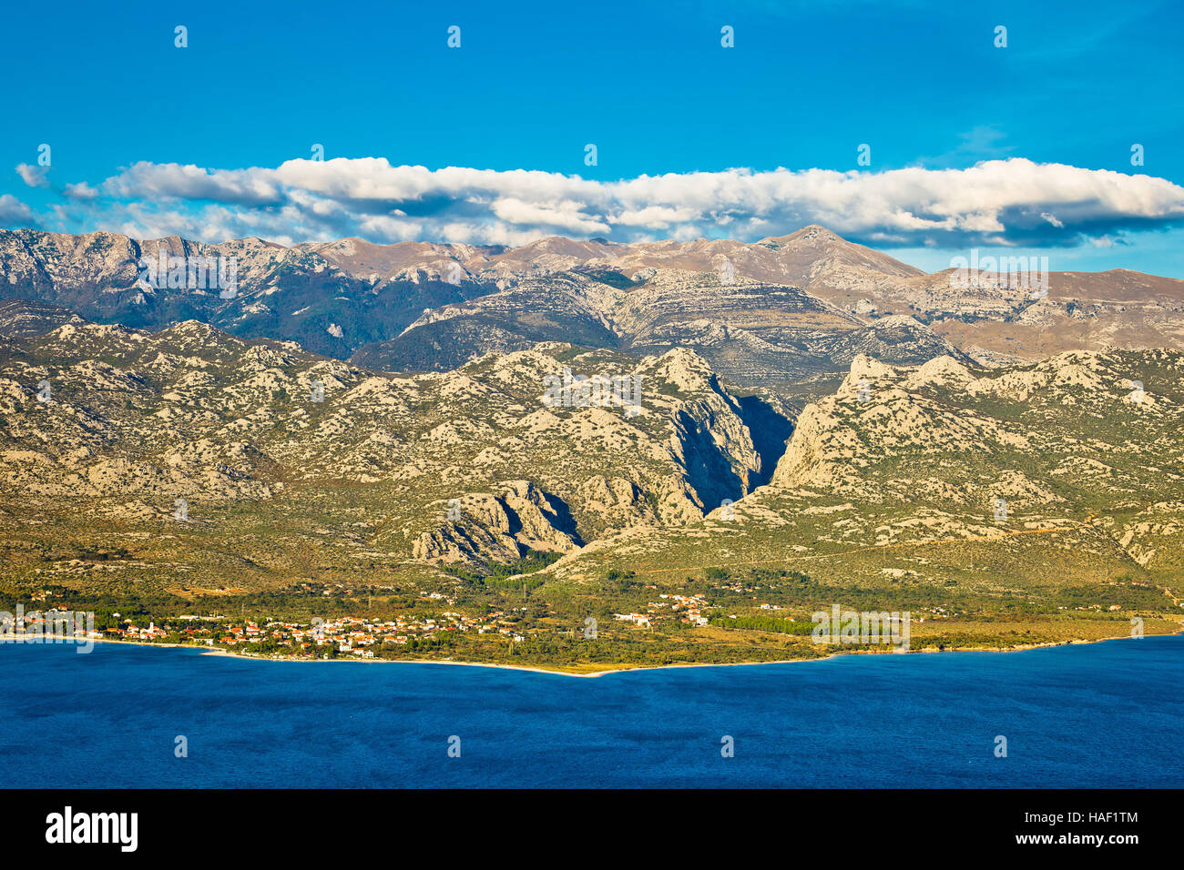 Paklenica canyon National park view on Velebit mountain in Croatia Stock Photo
