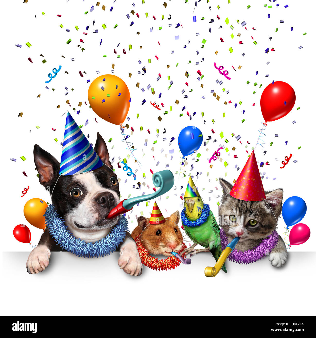 Free Dog And Cat New Years Eve Clip Art
