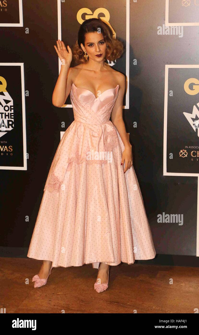 Bollywood actor Kangana Ranaut during the GQ India Men of the year Award 2016 ceremony in Mumbai, India - Stock Image
