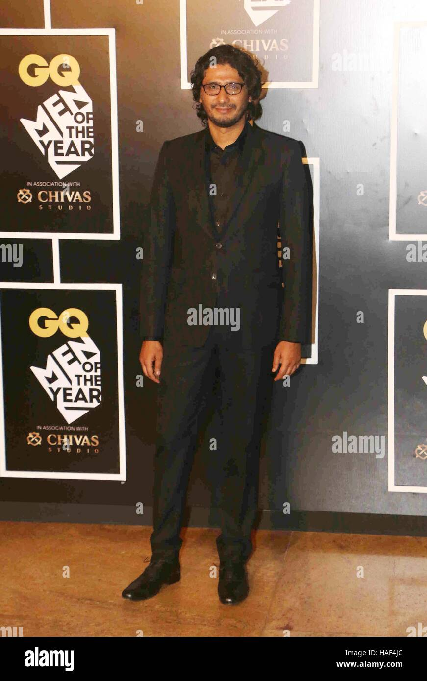 Bollywood filmmaker Abhishek Chaubey during the GQ India Men of the year Award 2016 ceremony in Mumbai, India - Stock Image
