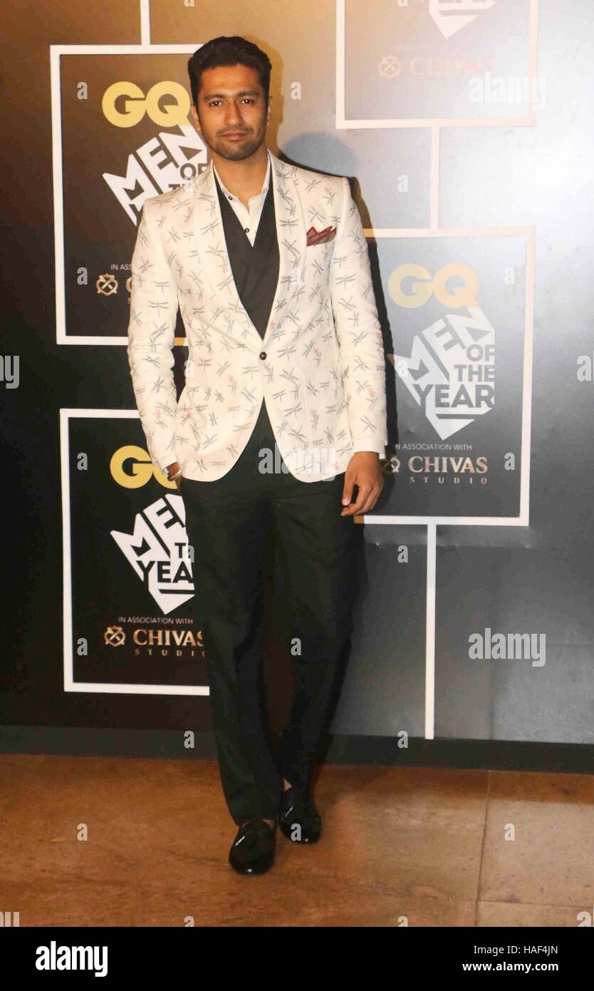 Bollywood actor Vicky Kaushal during the GQ India Men of the year Award 2016 ceremony in Mumbai, India on September - Stock Image